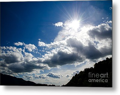 Blue Sky With Clouds Metal Print by Mats Silvan