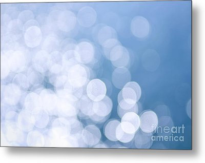 Blue Water And Sunshine Abstract Metal Print by Elena Elisseeva