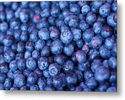 Blueberries Metal Print by Tanya Harrison