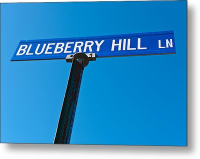 Blueberry Hill Sign Metal Print by Steve Gadomski