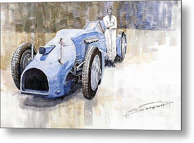 Bluebird 1933 Daytona Malkolm Campbell Metal Print by Yuriy  Shevchuk