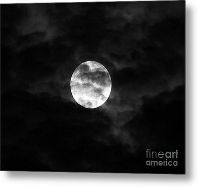 Blustery Blue Moon Metal Print by Al Powell Photography USA