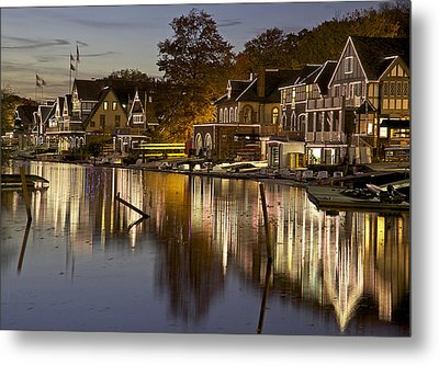 Boat House Row Metal Print by Yaz Allen