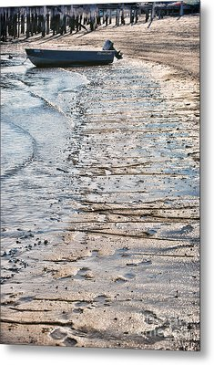 Boat On The Beach Metal Print by HD Connelly