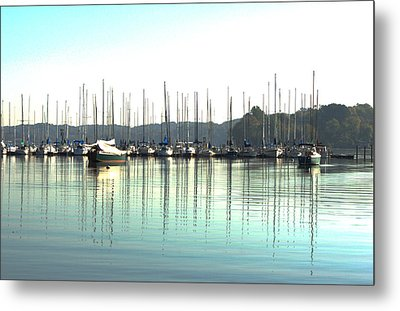Boat Reflections Metal Print by Bill Kennedy
