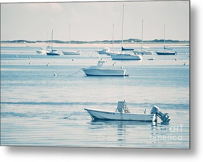 Boats In The Ocean Metal Print by HD Connelly