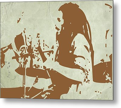 Bob Marley Brown 1 Metal Print by Naxart Studio