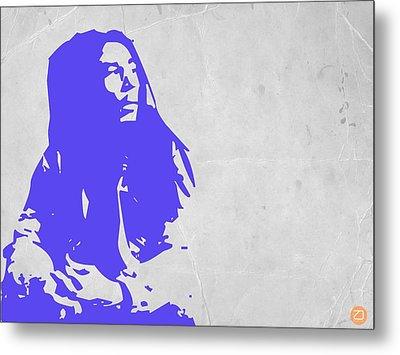 Bob Marley Purple Metal Print by Naxart Studio