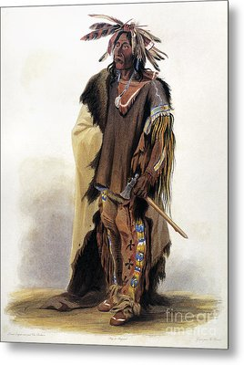 Bodmer: Sioux Chief Metal Print by Granger