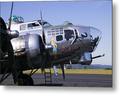 Bomber Sentimental Journey Metal Print by Garry Gay