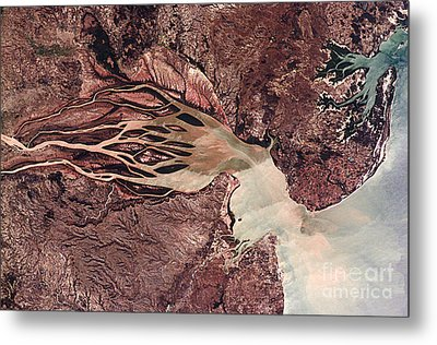 Bombetoka Bay, Madagascar, Satellite Metal Print by NASA / Science Source