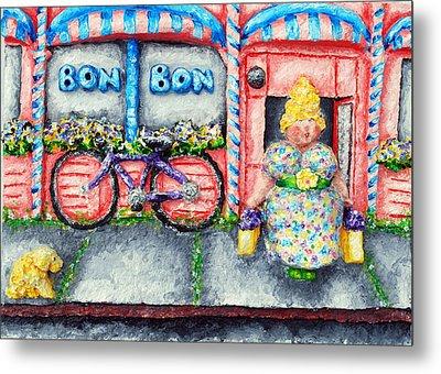 Bon Bon Betty Metal Print by Alison  Galvan