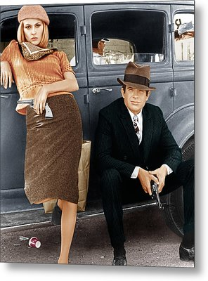 Bonnie And Clyde, From Left Faye Metal Print by Everett