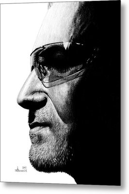 Bono - Half The Man Metal Print by Kayleigh Semeniuk