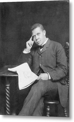 Booker T. Washington 1856-1915, African Metal Print by Everett