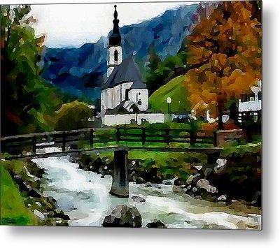 Bosnian Country Church Metal Print by Jann Paxton