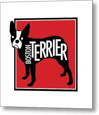 Boston Terrier Red 2 Metal Print by Geoff Strehlow