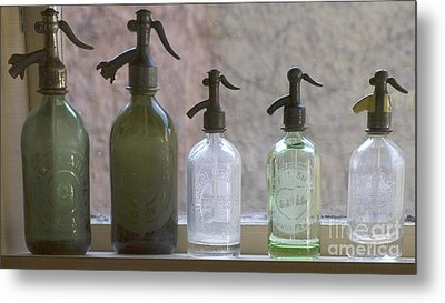Bottle Of Water  Metal Print by Odon Czintos
