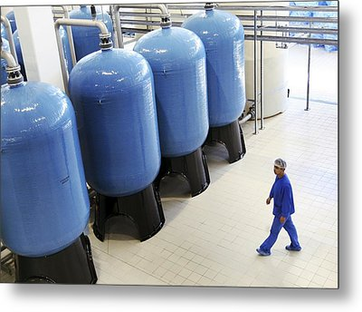 Bottled Water Production Metal Print by Ria Novosti
