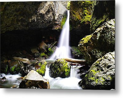 Boulder Cave Falls Revisited Metal Print by Jeff Swan