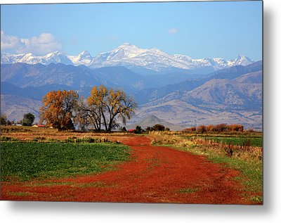 Boulder County Colorado Landscape Red Road Autumn View Metal Print by James BO  Insogna