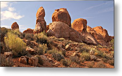 Boulder Landscape Metal Print by Marty Koch