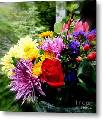 Bouquet  2 Metal Print by Tanya  Searcy