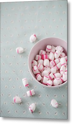 Bowl Of Sweets Metal Print by Elin Enger