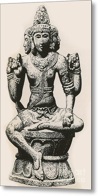 Brahma, Hindu God Metal Print by Photo Researchers