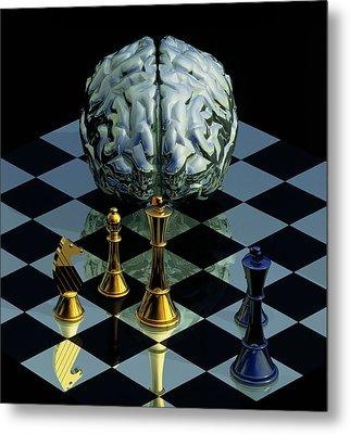 Brainpower Metal Print by Laguna Design