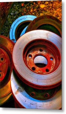 Brakes Metal Print by Terry Finegan