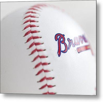 Braves Baseball Metal Print by Malania Hammer