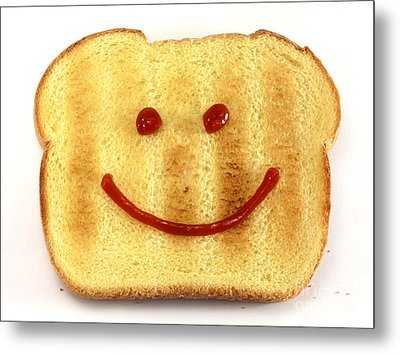 Bread With Happy Face Metal Print by Blink Images