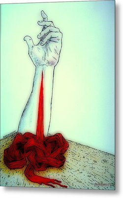 Breaks The Heaven With The Same Hand Breaks The Earth Metal Print by Paulo Zerbato