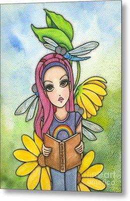 Brianna's Dragonflies Metal Print by Nora Blansett