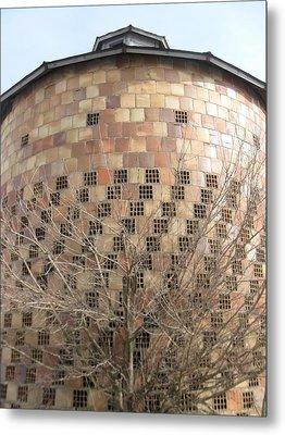 Brick Grain Bin Metal Print by Todd Sherlock