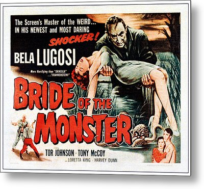 Bride Of The Monster, Top Bela Lugosi Metal Print by Everett