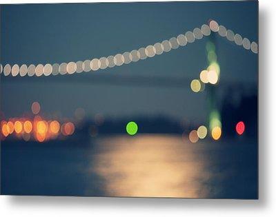Bridge Bokeh! Metal Print by Arshia Mandegarian