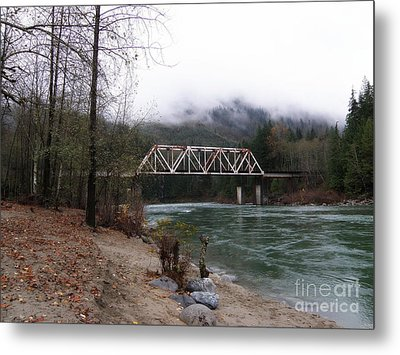 Bridge In Washington State Metal Print by Tanya  Searcy