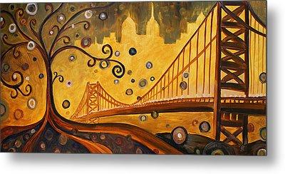 Bridge Metal Print by Sara Coolidge
