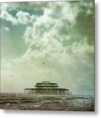 Brighton Seascape Metal Print by Paul Grand