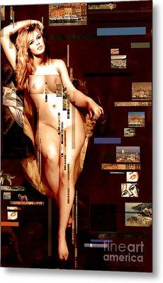 Brigitte Metal Print by Karine Percheron-Daniels