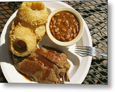 Brisket, Beans, & Rings At Famous Sonny Metal Print by Richard Nowitz
