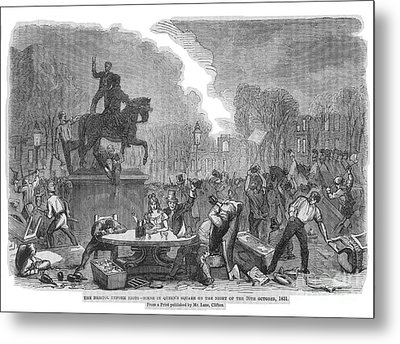 Bristol: Reform Riot, 1831 Metal Print by Granger