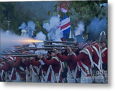 British Night Battle Metal Print by JT Lewis