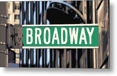 Broadway Sign Color 16 Metal Print by Scott Kelley