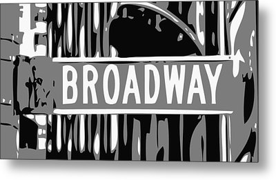 Broadway Sign Color Bw3 Metal Print by Scott Kelley
