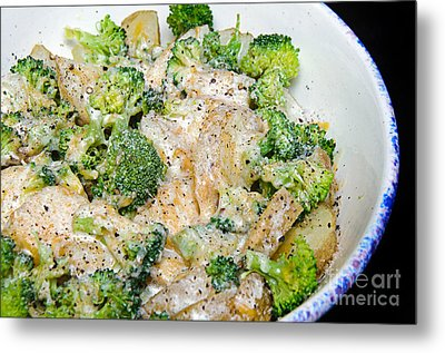 Broccoli Cheese Potatoes Metal Print by Andee Design