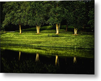 Broemmelsiek Park Green Metal Print by Bill Tiepelman