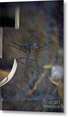 Broken Head Cross Metal Print by Susan Isakson